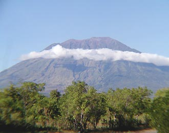l'ascension du mont Agung à Bali
